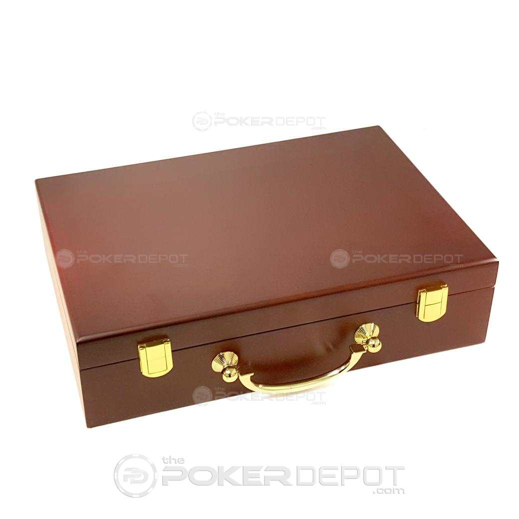 Mahogany Poker Chip Case 300ct