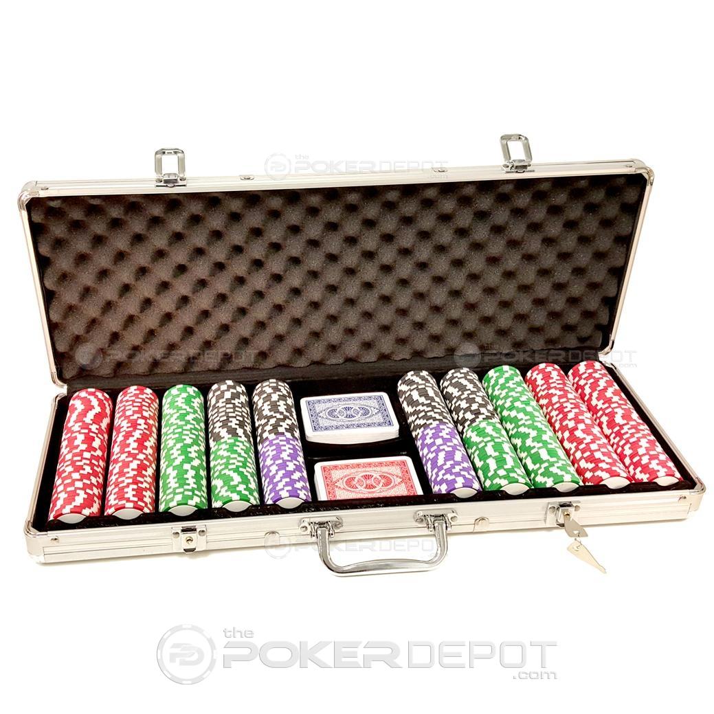 Aluminium Poker Chips Set 500ct