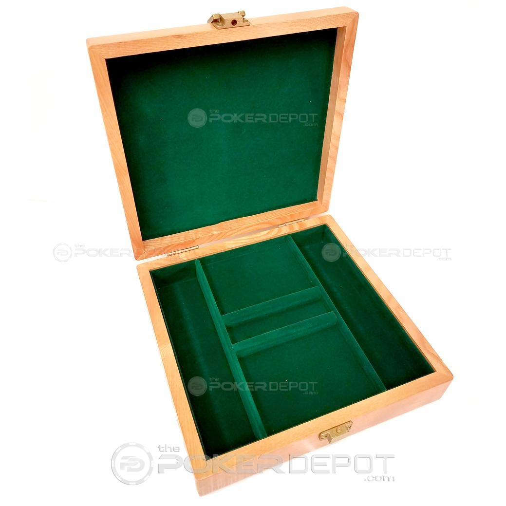 Oak Wood Poker Chip Case 100ct