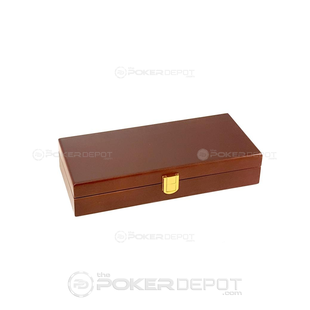 Mahogany Poker Chip Case 100 Count