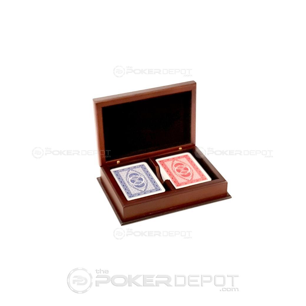 Mahogany Wood Playing Card Set