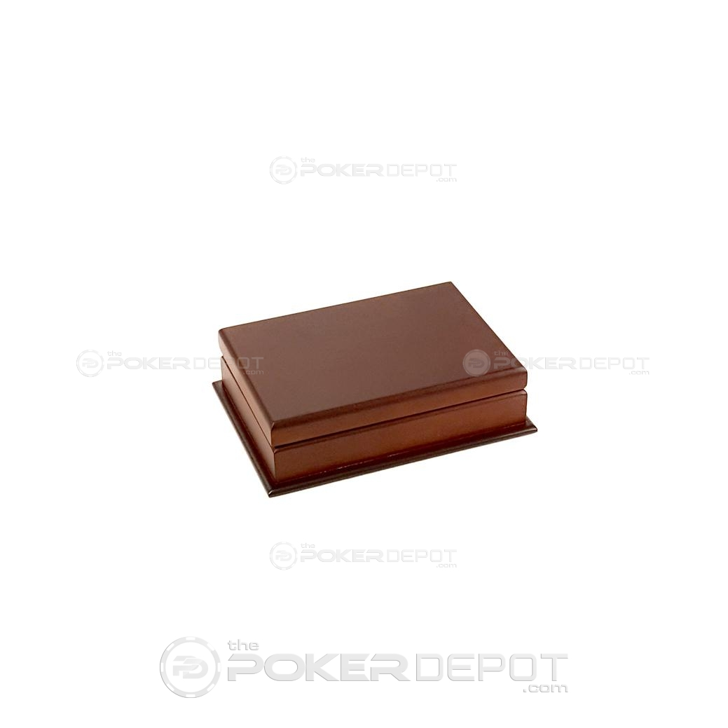 Mahogany Poker Decks Case