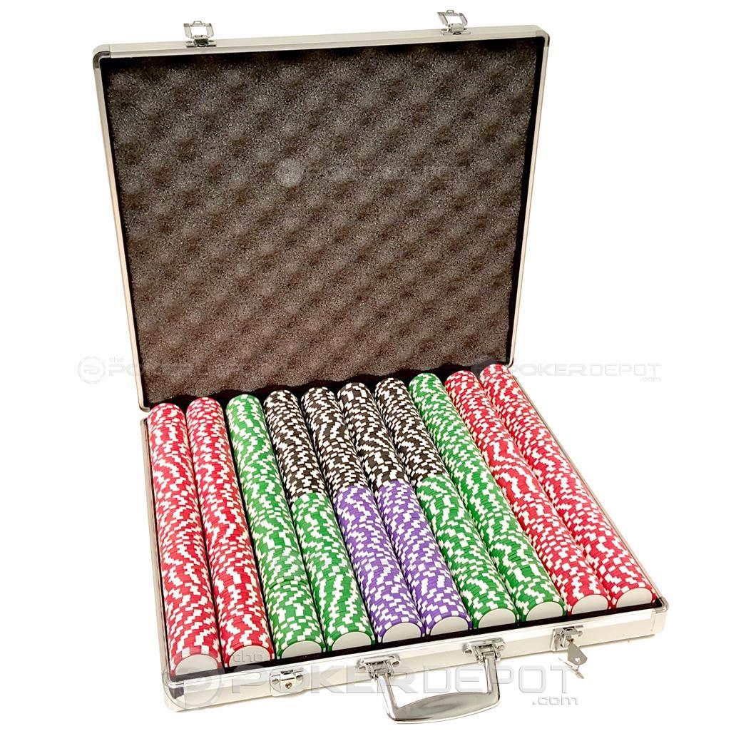Aluminium Poker Chip Set 1000ct