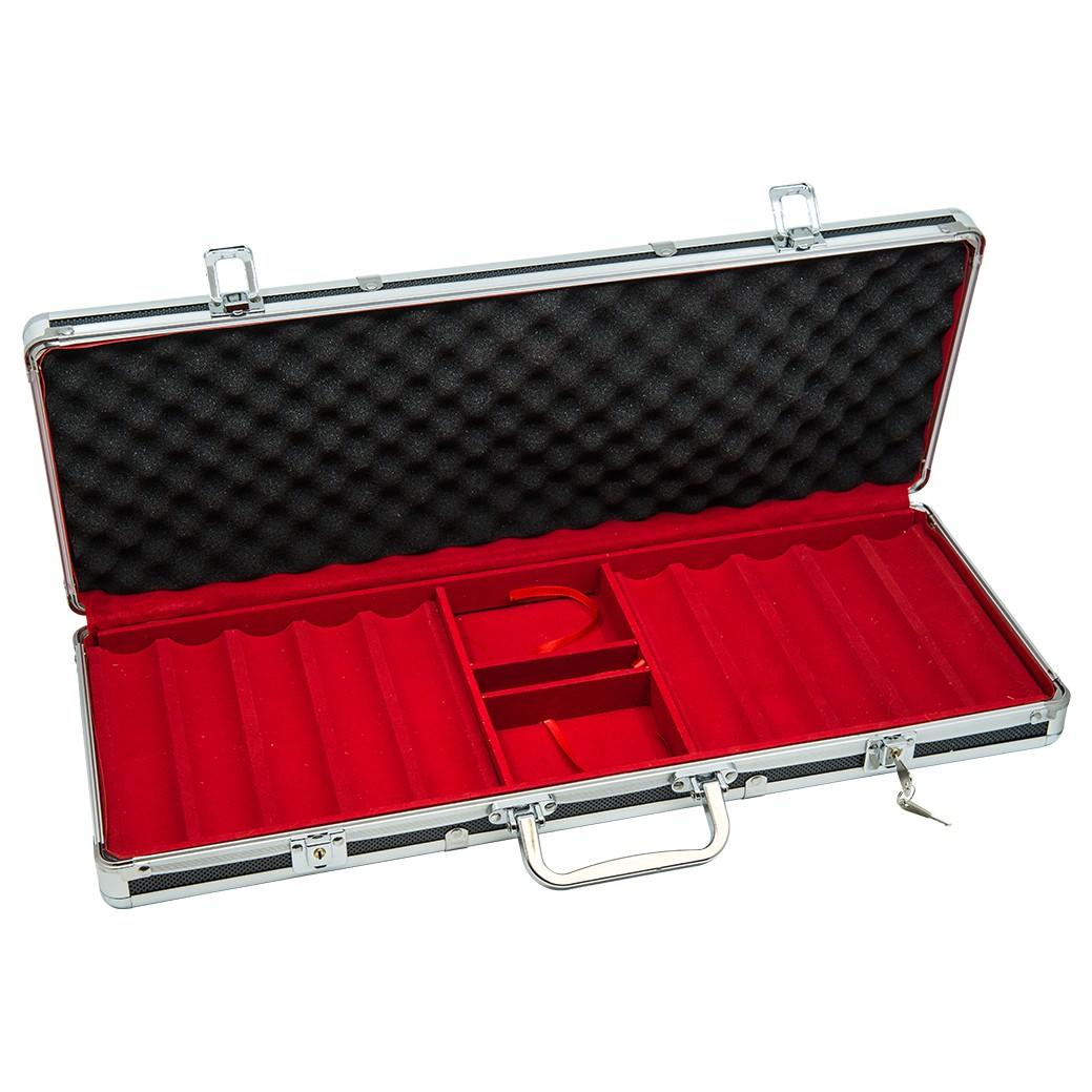 Poker Black Aluminum Case - 500ct (open)