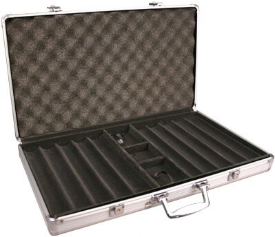 Poker Aluminum Case - 750ct (open)
