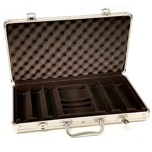 Poker Aluminum Case - 300ct (open)
