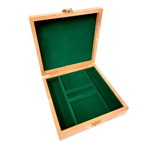 100ct Oak Poker Chip Display Case (Empty)