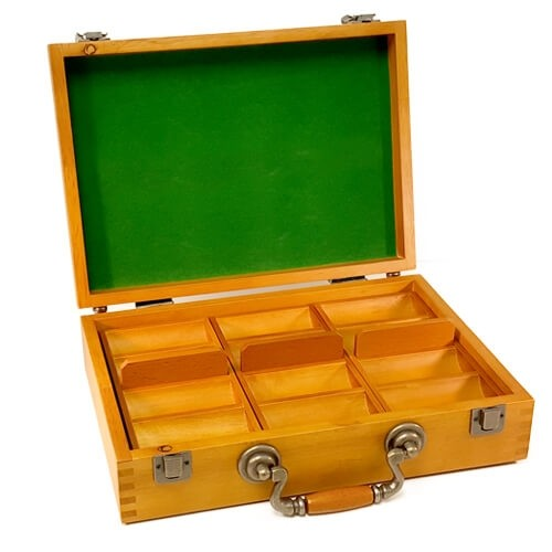300ct Oak Poker Chip Display Case (Empty)