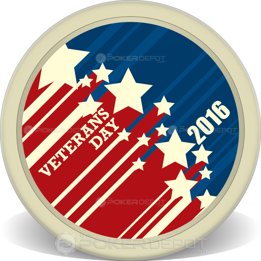 Veterans Day Stars Chips - Front