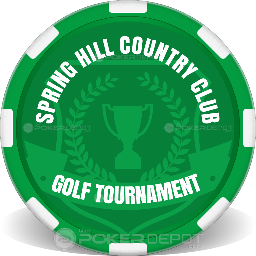 Custom Golf Tournament Poker Chip - Back