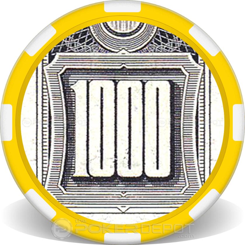 $1000 Bill - Back