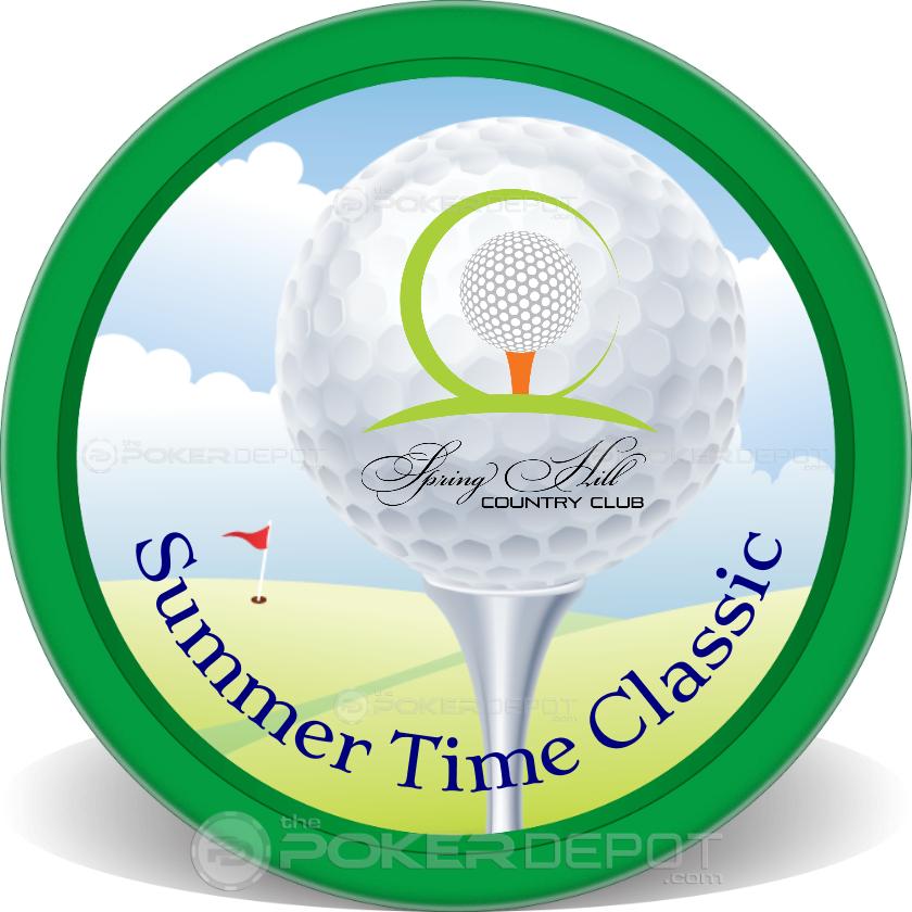 Golf Tee Off - Back