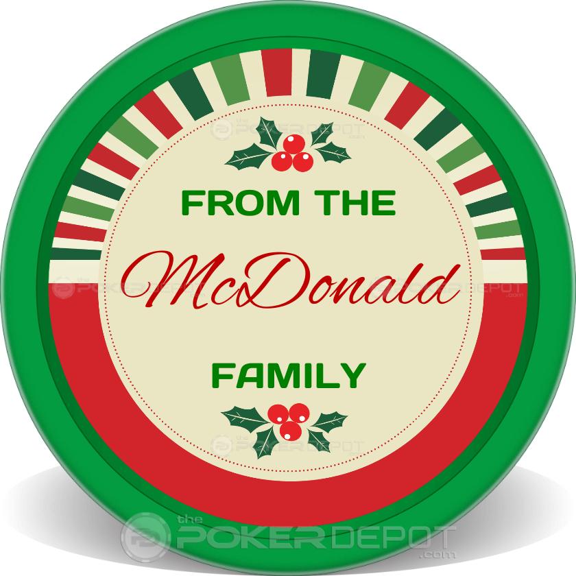 Merry Christmas Happy New - Back