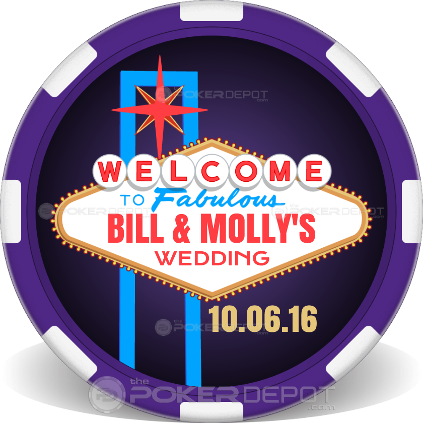 Vegas Sign Wedding - Back