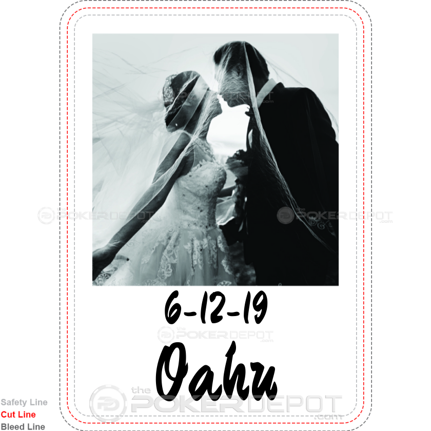 Save The Date Custom Playing Cards