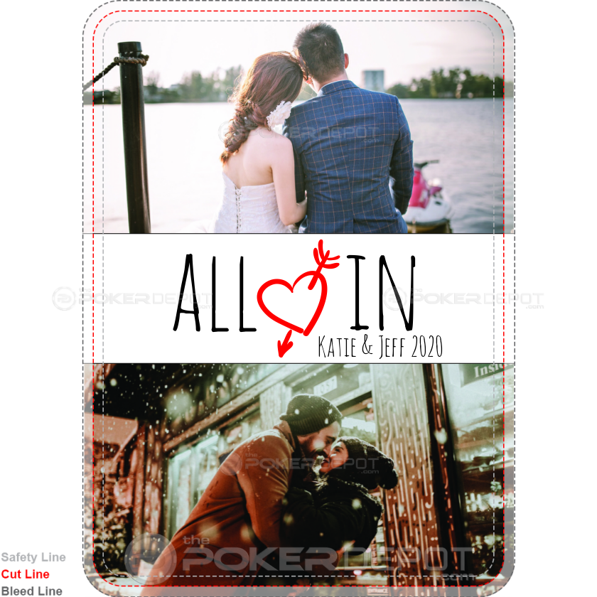 All In Wedding Custom Playing Cards