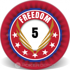 Freedom Ceramic Poker Chip Front