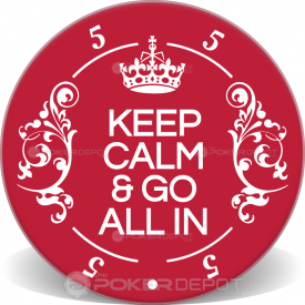 Keep Calm Ceramic Poker Chip Front