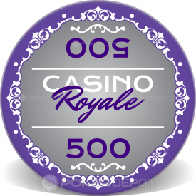 Casino Royale Ceramic Chips Front