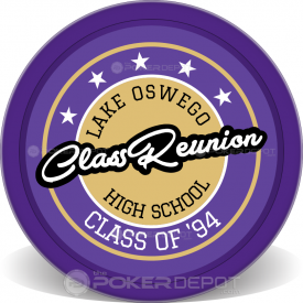 Class Reunion Badge Poker Chip Front