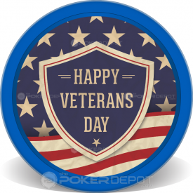 Veterans Day Shield Chips Front