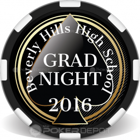 Spade Grad Night Poker Chips Front