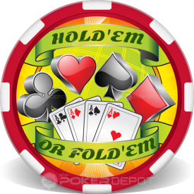 Four Aces Poker Chips Front