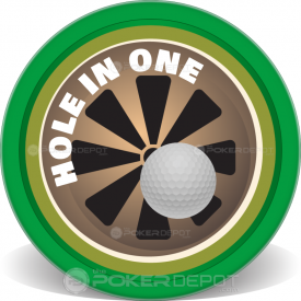 Hole In One Poker Chips Front