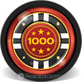 Glamour Suits Poker Chip Front