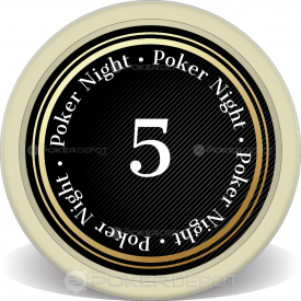Spade Grad Night Poker Chip Front