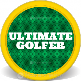 Golf Plaid Poker Chip Front