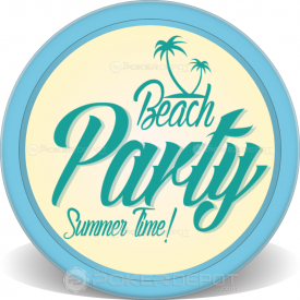 Summer Party Poker Chips Front