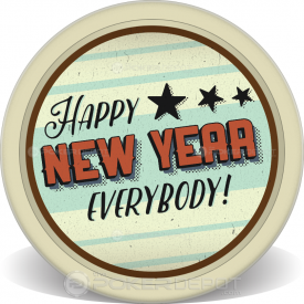 Grunge New Year Poker Chip Front