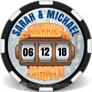 Married Jackpot Poker Chips Front