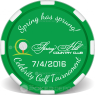 Custom Golf Tournament Poker Chip Front