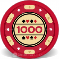Traditional Poker Chip Front
