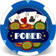 Casino Dice Poker Chips Front