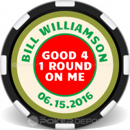 Hole In One Poker Chip Front