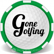 Golf Ball Poker Chip Front