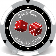 Las Vegas Wedding Custom Poker Chips