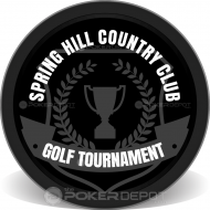 Golfing Tournament Custom Clay Poker Chips