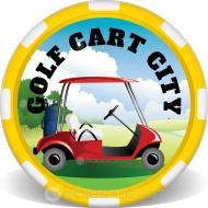 Golf Cart Custom Clay Poker Chips