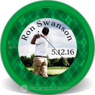 Golf Plaid Custom Poker Chips