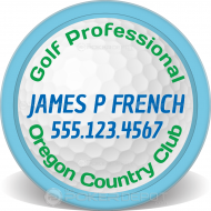 Golf Pro Custom Clay Poker Chips