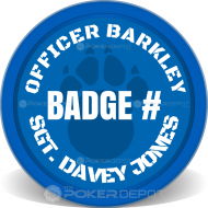 K-9 Unit Custom Clay Poker Chips
