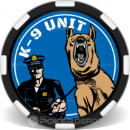 K9 Unit Custom Poker Chips