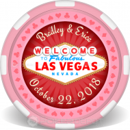 Married In Vegas! Custom Clay Poker Chips