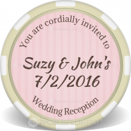 Wedding Reception Custom Clay Poker Chips