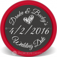 Save The Date Event Custom Clay Poker Chips