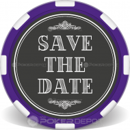 Save The Date Custom Clay Poker Chips